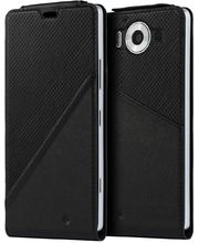 Mozo flipové pouzdro pro bezdrátové nabíjení pro Lumia 950, černé